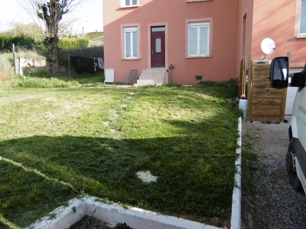 Aménagement d'un jardin aux portes de RODEZ