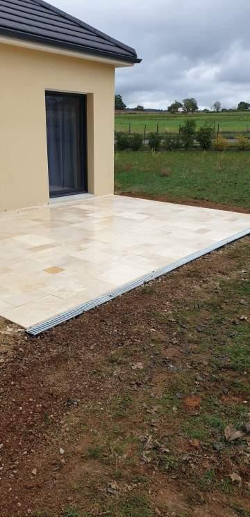 Création d'une terrasse à Rignac